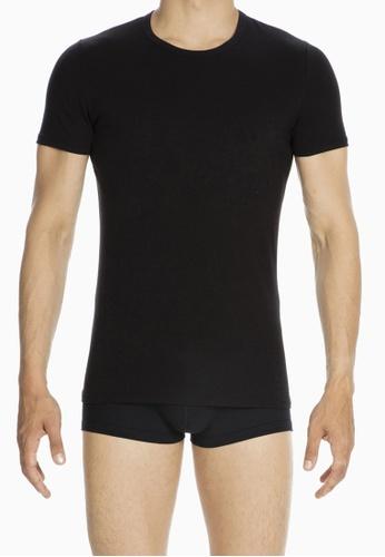 HOM black Smart Cotton TShirt C Neck BA8CBUSA07860CGS_1