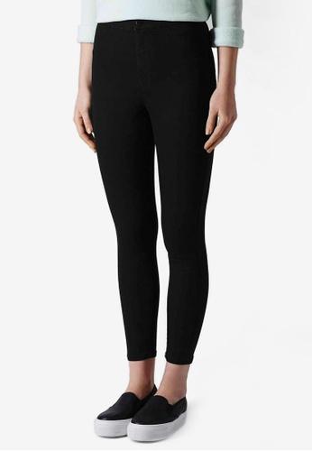TOPSHOP black PETITE MOTO Black Joni Jeans TO249AA66SUZSG_1