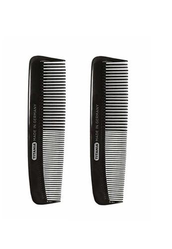OPI [Twin Pack] Titania Pocket Comb 1810/2 12.5cm Black [TTN414x2] A5722BE9A4CA39GS_1