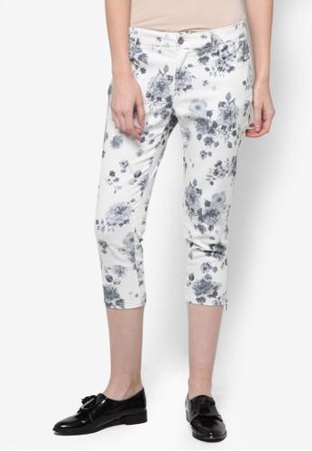 Azure 花卉印花七分褲, 服飾, 長esprit 台灣門市褲及內搭褲