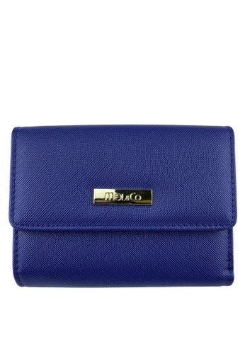 Mel&Co navy Faux Leather Mid-Size Wallet 96020AC1E99975GS_1
