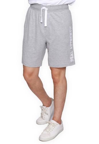 Rigato grey Short Pant Hallindo F27D7AA2E7A171GS_1