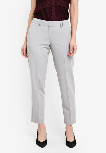 Dorothy Perkins silver Slim Tailored Ankle Grazer Trousers DO816AA0RQUHMY_1