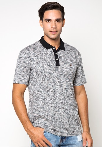 Two Tone Single Jersey Polo Shirt With Solid Combination