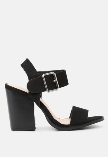 London Rag black Ankle Strap High Heel Sandal 688E1SH884B265GS_1