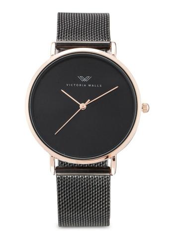 Victoria Walls Watches black Designer Watch-Elegant Milanese Mesh Strap F0593AC486F3E1GS_1