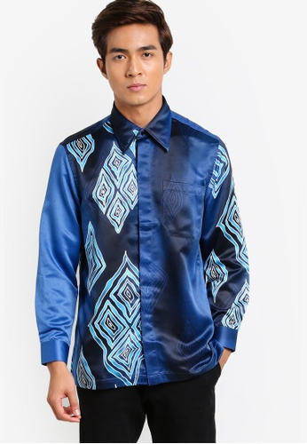 Buy Gene Martino Long Sleeve Batik Shirt Online  ZALORA Malaysia