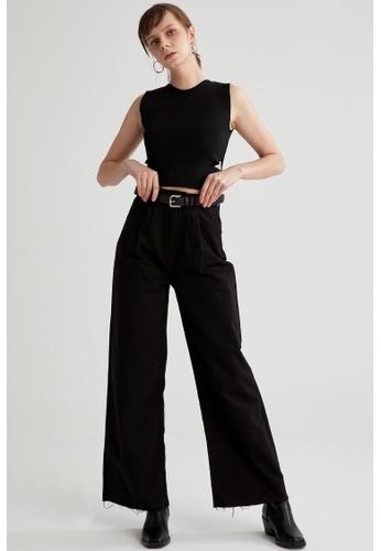 DeFacto black Woman Woven Trouser 2D5A0AAB0157D9GS_1