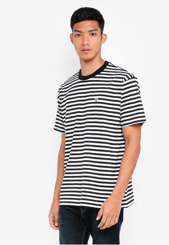 OBEY 黑色 短袖條紋T恤 362F9AA0CC472AGS_1