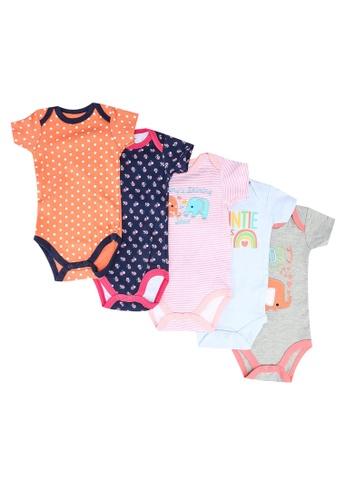 Milliot & Co. pink Achelle Girls Newborn Bodysuit 5-Pack A4576KA704BA02GS_1