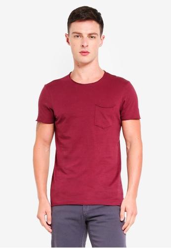 OVS 粉紅色 短袖T恤 With 口袋 06D4AAA7BF73DBGS_1