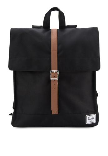 Herschel black City Mid Volume Backpack HE114AC99KOQMY_1