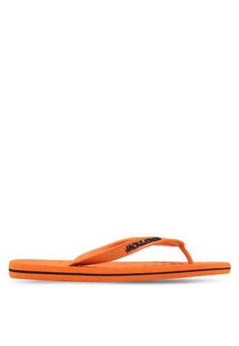 Jack & Jones orange Basic Flip Flops F6901SH9D0439AGS_1