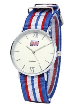 Newyork Army Unisex Multicolor Nylon Strap Watch NYA121