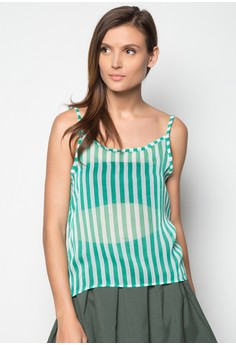 Sally Spaghetti Top Printed Chiffon