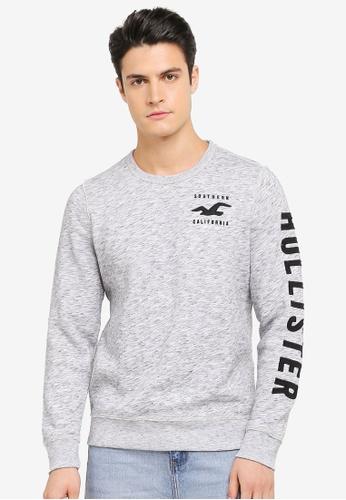 Hollister grey Logo Sweatshirt HO422AA0SVHFMY_1