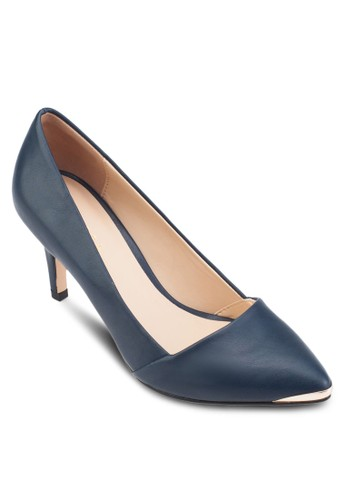 金屬尖頭細跟高跟鞋、 女鞋、 鞋ZALORA金屬尖頭細跟高跟鞋最新折價