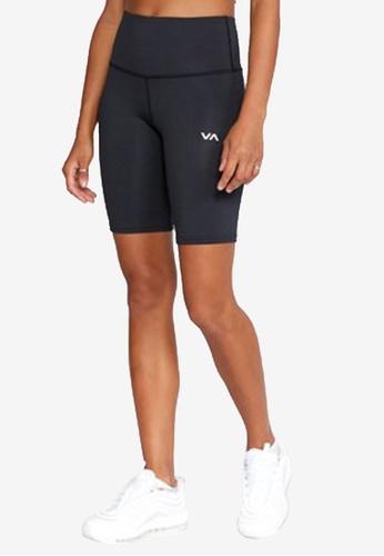 RVCA black VA Essential Bike Shorts 2E471AAA99EC40GS_1