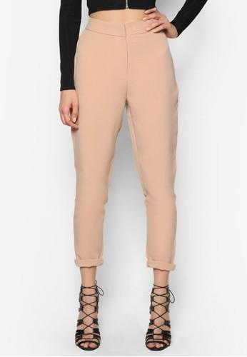高腰窄管直筒長褲, 服飾, 長褲及內esprit 中文搭褲