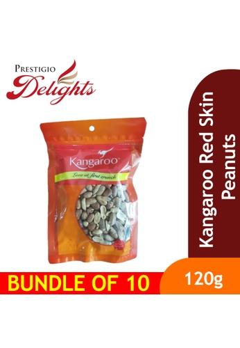 Prestigio Delights Kangaroo Red Skin Peanuts 120g Bundle of 10 57F55ES30A48F4GS_1