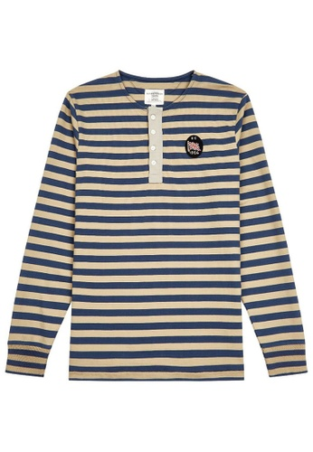 5aa38739f9315 Buy Kent and Curwen Hoop striped Henley Online on ZALORA Singapore