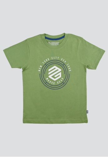 Moose Gear green T-Shirt Soft and Thin Cotton For Boys D00E4KA34B7CE7GS_1