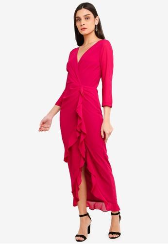 FORCAST purple Krystal Ruffle Dress 1609FAA6A4ADB1GS_1