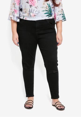 Dorothy Perkins black Curve Black Rip Darcy Jeans B7ED1AAE5C50F8GS_1