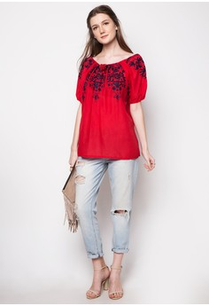 Alison Embroidered top