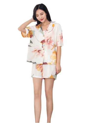 THE LOUNGE EDIT multi Simone Loungewear Shorts Set 87F18AA185B733GS_1