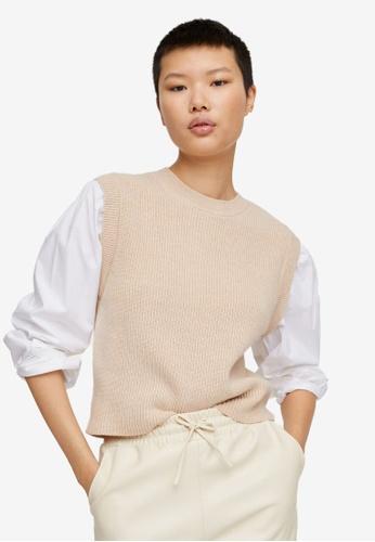 Mango grey Knitted Shirt Sweater 4B79EAAF3F20C6GS_1