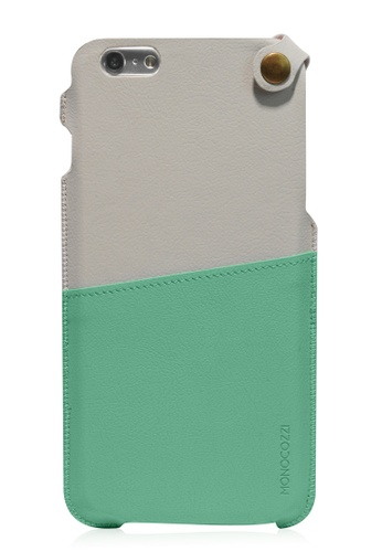 Monocozzi green Posh Soft Leather Pouch For iPhone 6 Plus MO983AC51BXOHK_1
