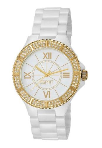 ESPRIT white Esprit ESEL101322F08 Isis Kyrtos Gold Ceramic Women Watch C25DBAC61E8B91GS_1
