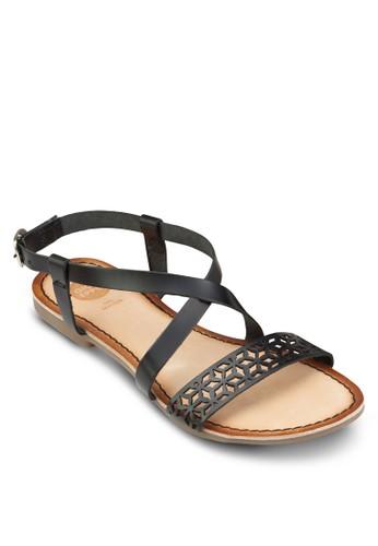 Villeneuve 雕花羅馬涼鞋、 女鞋、 鞋GioseppoVilleneuve雕花羅馬涼鞋最新折價