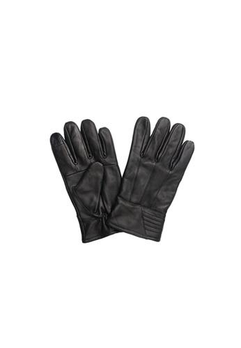 Universal Traveller black Universal Traveller Sheep Skin Leather Gloves - GVL 9002 03F9FACC41B69BGS_1