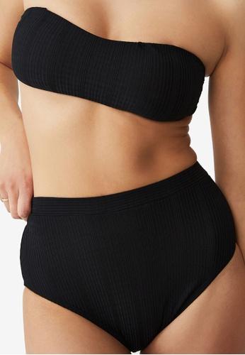Cotton On Body black High Waisted Boyleg Bikini Bottom D359DUSEA492D4GS_1