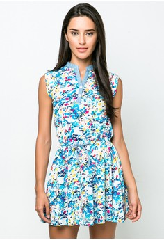 Printed Casual Short Dress