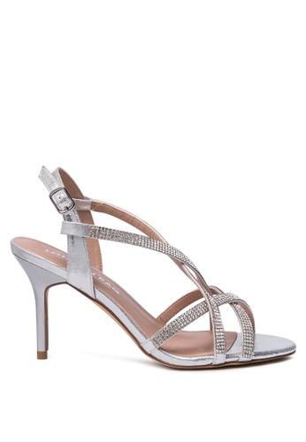 London Rag 銀色 银色高跟凉鞋 A7C52SH3185893GS_1