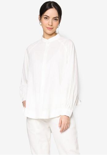 ZALIA BASICS white Oversize Raglan Sleeve Shirt E7DA5AA56BB4EEGS_1