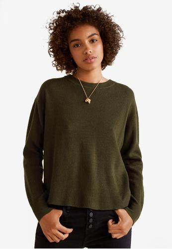 Mango beige Back Vent Sweater D9BAEAA8B433B8GS_1