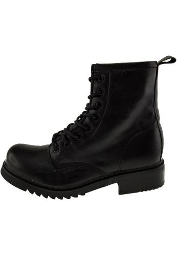 Maxstar 黑色 新款韩国鞋303-Walker時尚皮革布混合女黑色 US Women Size MA345SH74GYBTW_1