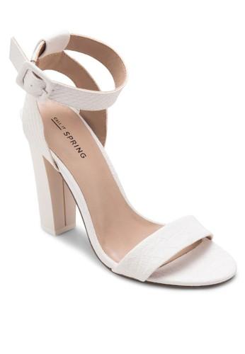 Gallipeau 粗跟高跟鞋, 女zalora 衣服評價鞋, 細帶高跟鞋