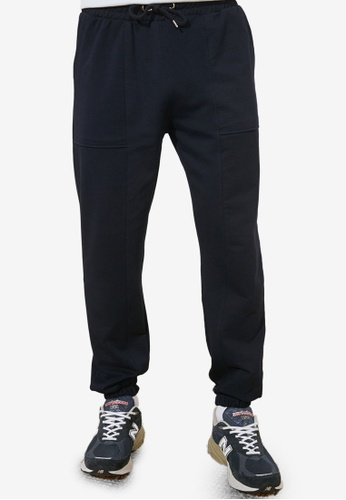 Trendyol navy Regular Fit Sweatpants 46B51AAC70DAFFGS_1