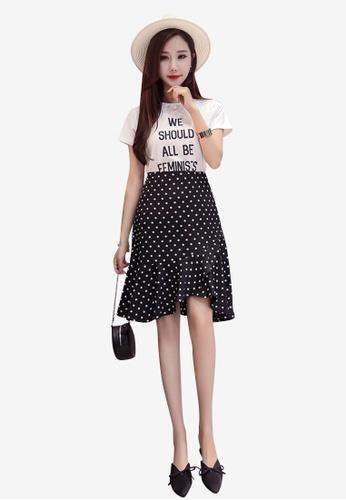Lara black Women Polka Dot Skirt BBAD5AAF0C6AC9GS_1