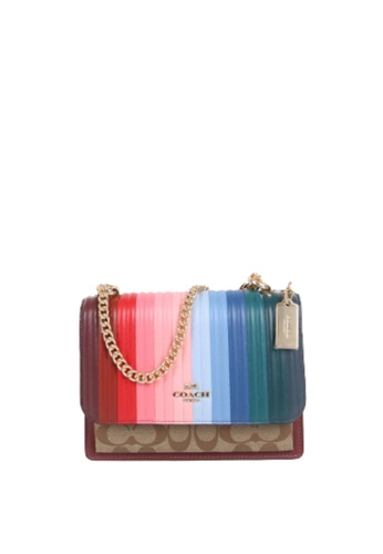 Coach brown Coach Signature Klare C1446 With Rainbow Quilted In Candy Pink Multi E25ADACB0CA332GS_1