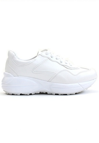 Crystal Korea Fashion white Korean Thick-bottomed Lace Casual Sneakers F0EA8SHB7972D9GS_1