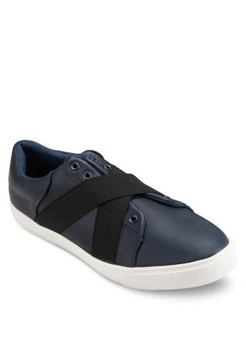 交叉彈性帶仿皮革休閒esprit香港分店地址運動鞋, 鞋, 鞋