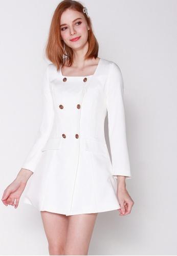 JOVET white Classic Suit Dress 8B92FAAFEA4140GS_1