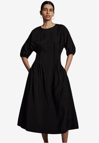 COS black Puff Sleeve Dress 71A7DAAD99B993GS_1