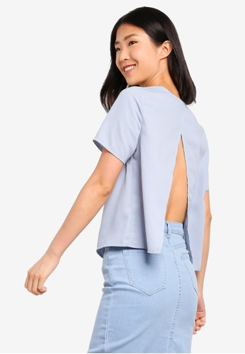 ZALORA BASICS blue Basic Layered Top A9837AA2D8253FGS_1